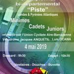 le samedi 04 mai Championnat bi-départemental piste (40-64)