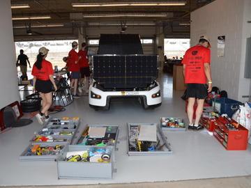 Solar Car Team at this year's Formula Sun Grand Prix in Austin, Texas.