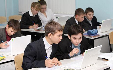 Alunni in una scuola russa