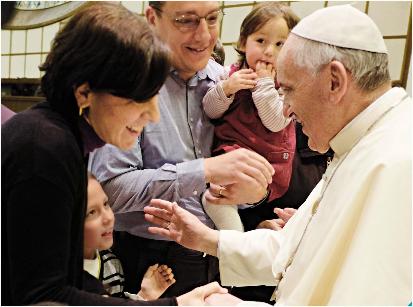 Francesco incontra famiglia