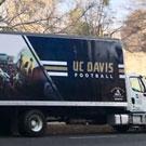 Aggie football moving truck