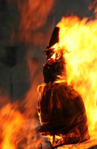 effigy burned