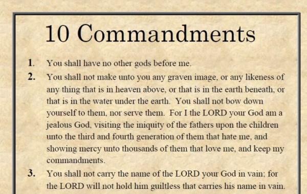 10 commandments # 8