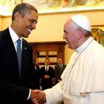 البابا فرنسيس والرئيس أوباما
