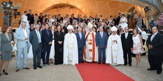 الراعي ترأس مراسم العرس الجماعي الثامن في بكركي