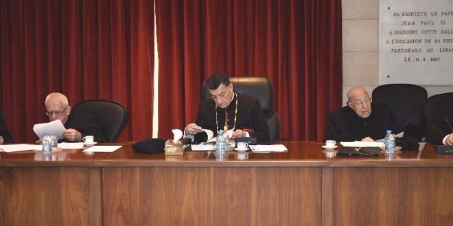 المطارنة الموارنة: للتقيد بقرار سياسة النأي بالنفس من أجل حماية الوحدة الوطنية والاستقرار