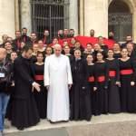 لقاء قداسة البابا فرنسيس وجوقة القديسة رفقا بقيادة الراهبة اللبنانية المارونية الأخت مارانا سعد