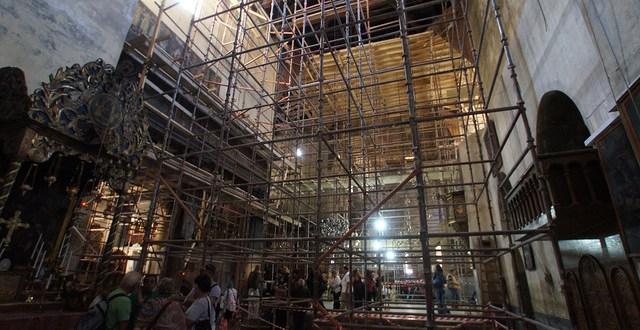 ترميم كنيسة المهد أشبه بلمس السماء تقرير الشركة الإيطالية التي تتولّى الأعمال