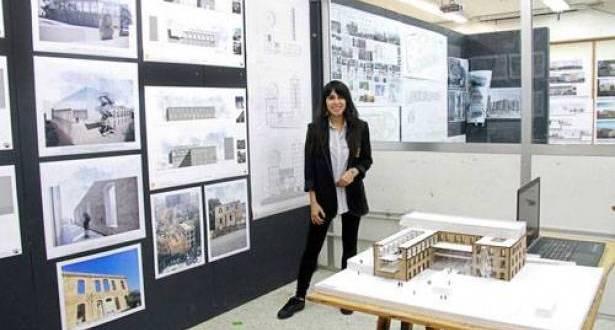 """أود قزي الفائزة الأولى من الألبا في مشروعها التخرجي تستعيد الفكرة الحضارية والثقافية لـ""""الندوة اللبنانية"""""""