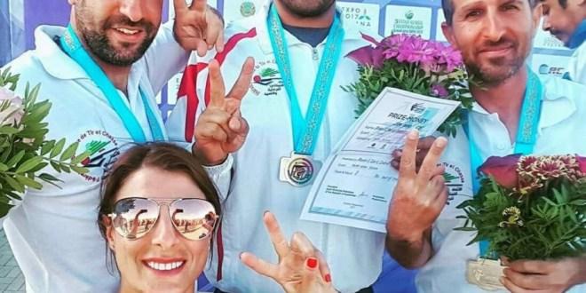 منتخب لبنان احرز فضية الفرق في بطولة آسيا للرماية في استانا