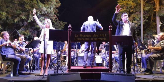 امسية غنائية لموسيقى قوى الامن الداخلي في برمانا