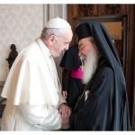 البابا يستقبل بطريرك القدس للروم الأرثوذكس