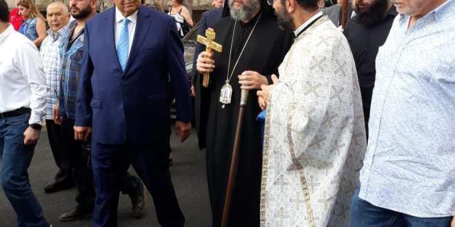 موسى ترأس صلاة في كنيسة المخلص في محطة بحمدون وأكد أهمية المصالحة والعودة