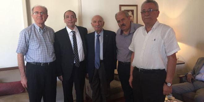 """أوليب و""""الديمقراطيون المستقلون"""" في زيارة إلى دولة الرئيس حسين الحسيني"""