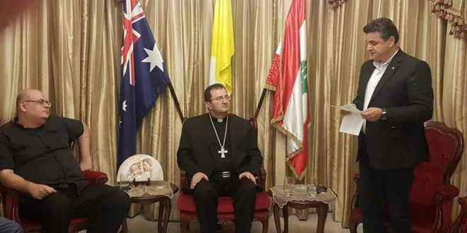 طربيه استقبل وفد الرابطة المارونية في استراليا: ندعو الى الالتفاف حول الكنيسة والأبرشية وتمتين الوحدة