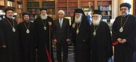 أفرام الثّاني يلتقي رئيس اليونان