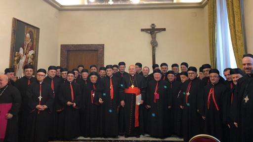 البطريرك الرّاعي يشارك في احتفال عيد الاستقلال مع أساقفة المجمع المقدّس- روما