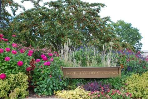 Garden at the Harriet Woods Civic Plaza