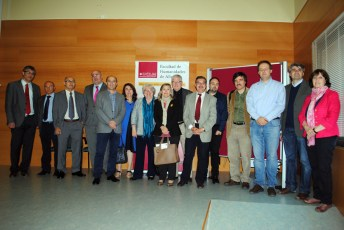 Autoridades, ponentes y organizadores del seminario