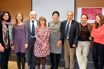 Gallizo, con profesores de la Facultad de Derecho y Ciencias Sociales de Ciudad Real