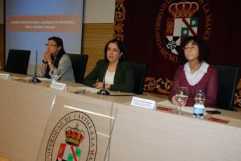Isabel del Puerto, Fátima Guadamillas e Idoia Ugarte en la inauguración