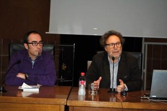 Francisco de la Rosa (CCOO) y Joaquín Aparicio (UCLM)