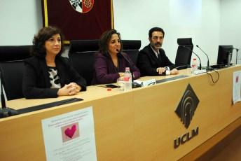 De izqda. a dcha: Aurora Galán, Julia Gómez y Miguel Lorente