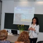 Lucía Castro durante la conferencia