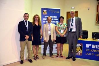 Desde la izquierda, Ignacio García, Aurora Vizcaíno, Félix García, Coral Calero y Christof Ebert