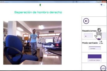 La aplicación incluye distintos ejercicios en función de la dolencia del paciente
