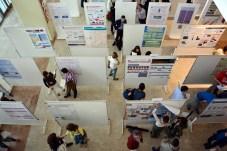 Los doctorandos preparan los pósteres explicativos de sus trabajos de investigación