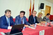 De izqda. a dcha.: Francisco Aranda, Matías Barchino, Miguel Ángel Collado, María Ángel Zurilla y Rafael González