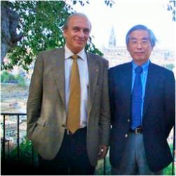 Fernando Langa y Sumio Iijima, premio Príncipe de Asturias 2008 y uno de los descubridores del grafeno