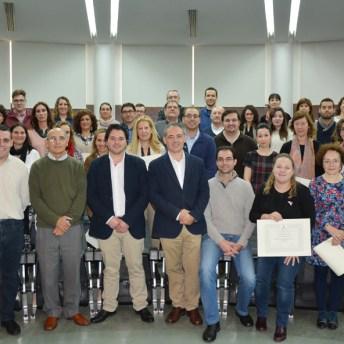 Foto de grupo de los alumnos de la I promoción del Curso de Experto en Gestión Cultural y Universidades Populares