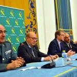 El rector -centro- inauguró el encuentro que se celebra en el Paraninfo del Rectorado