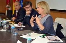 De Páramo, Espinosa y Gómez, durante el seminario