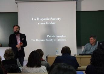 El profesor Rafael Villena presentó al ponente