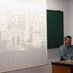 Un momento de la intervención en la Facultad de Humanidades de Toledo