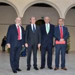 Rectores Arroyo, Martínez Ataz y Collado con el decano de la Facultad de Ciencias Jurídicas y Sociales, Pedro J. Carrasco