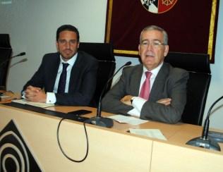 Pedro Carrión junto a César Cogollugo