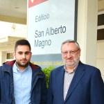 Carlos Rodríguez y Ángel Ríos, en la Facultad de Ciencias y Tecnologías Químicas