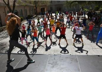 Una de las actividades celebradas hoy en el Campus de Toledo con motivo del Día Mundial de la Actividad Física y el Deporte