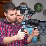 Los hermanos Valle durante el rodaje del corto. Foto de Auntie Films