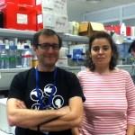 Los investigadores Antonio Mas y Charo Chabariegos