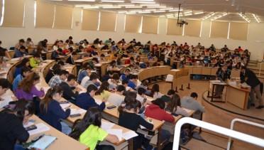 Alumnos durante la celebración de la prueba