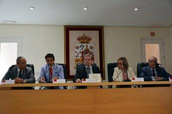 De izqda. a dcha.: Juan Ramón de Páramo, Daniel Reina, Miguel Ángel Collado, María Jesús Alarcón y Mariano León.