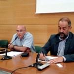 El coordinador del proyecto acompañado por Julián Garde