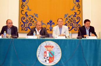 De izqda. a dcha.: José María Coronado, Juan Ramón de Páramo, José María Menéndez y Miguel Beltrán
