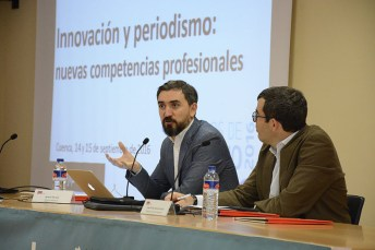 Ignacio Escolar, durante su intervención