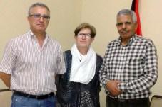 rmina Prado y Ángel Lopez, con el ministro de Salud Pública saharaui, Mohamed Iamín Daddi